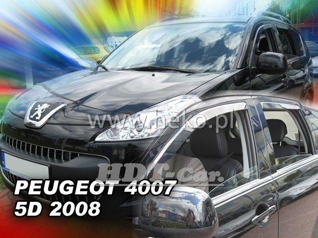 Plexi, ofuky PEUGEOT 4007, 5D, 2008 =>, přední + zadní heko