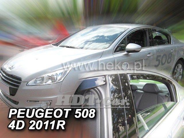 Plexi, ofuky PEUGEOT 508 sedan, 4D, 2011 =>, přední + zadní HDT