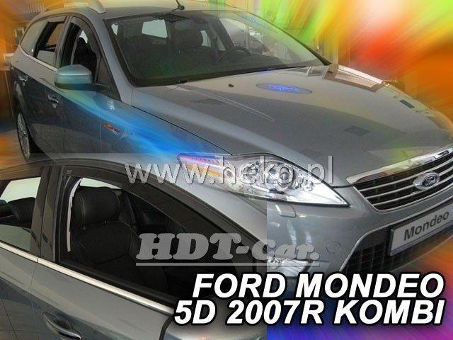 Plexi, ofuky bočních skel Ford Mondeo kombi, 5D 2007 =>, 4ks přední + zadní HDT