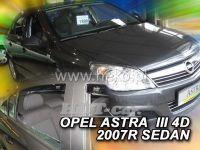 Plexi, ofuky OPEL Astra III H sedan, 5D, 2004 =>, přední + zadní
