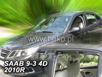 Plexi, ofuky SAAB 93 4D, 2002 =>, přední + zadní