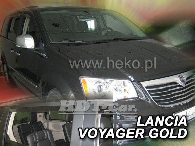 Plexi, ofuky Chrysler Voyager grand 5D 2008 =>, přední + zadní heko