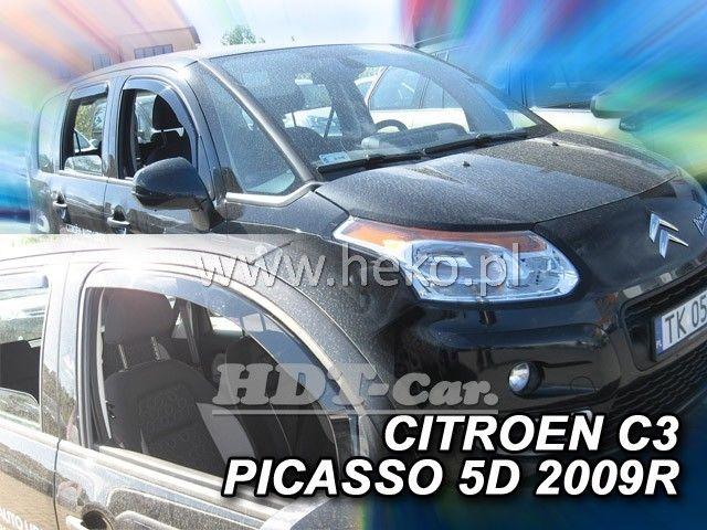 Plexi, ofuky Citroen C3 Picaso 5dv., od roku 2009r => sada 2ks přední heko