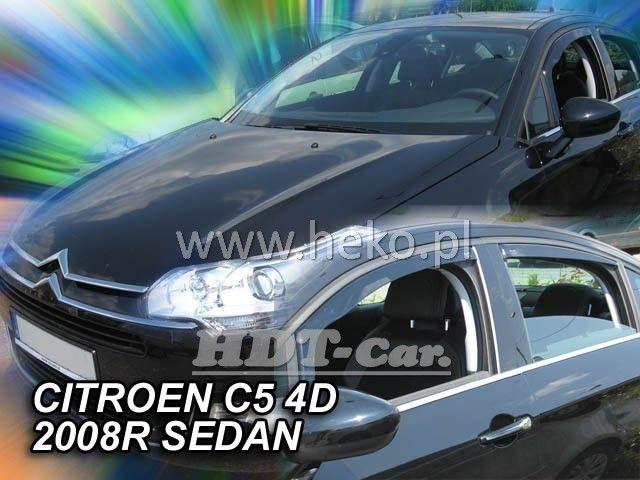 Plexi, ofuky Citroen C5 5D 2008 =>, sedan, přední + zadní heko