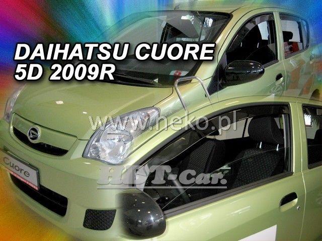 Plexi, ofuky Daihatsu Cuore VII 5D 2007 =>, přední heko