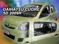 Plexi, ofuky Daihatsu Cuore VII 5D 2007 =>, + zadní HDT