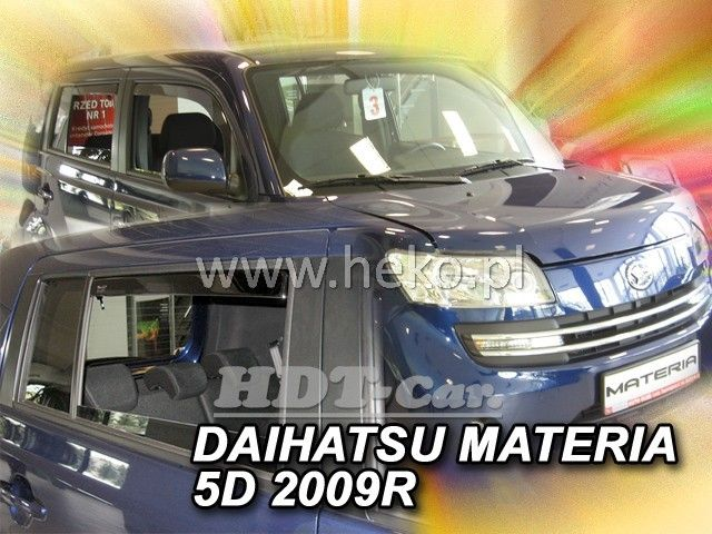 Plexi, ofuky Daihatsu Materia 5D 2006 =>, + zadní heko