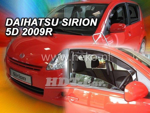 Plexi, ofuky Daihatsu Sirion 5D 2005 => přední heko