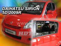 Plexi, ofuky Daihatsu Sirion 5D 2005 =>, + zadní HDT