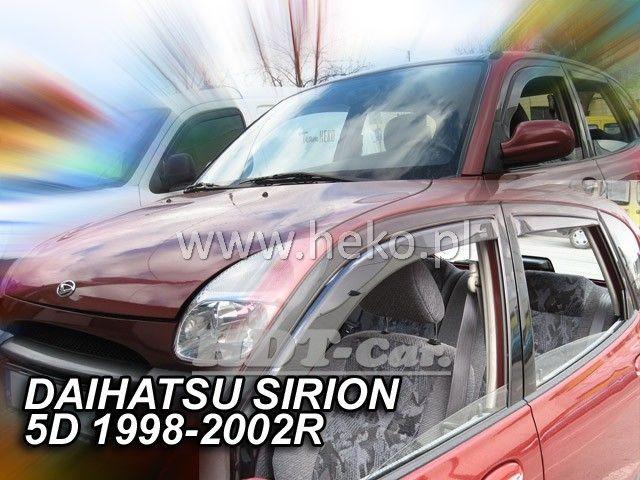 Plexi, ofuky Daihatsu Sirion 5D 98--02R přední heko