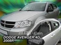 Plexi, ofuky Dodge Avanger 4D 2008 =>, přední + zadní