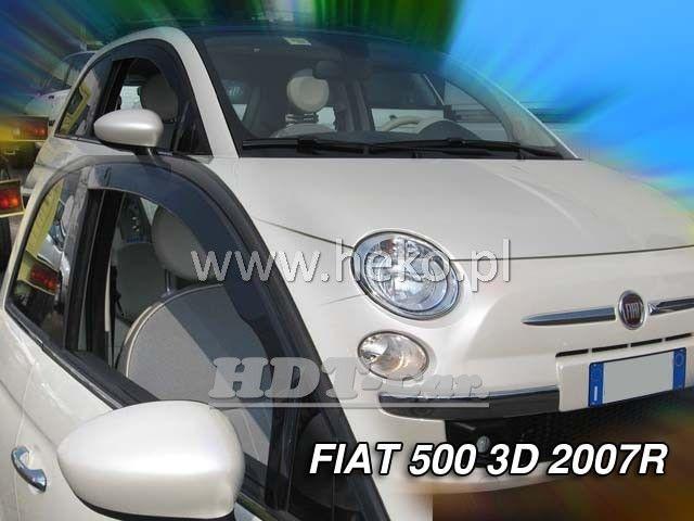 Plexi, ofuky Fiat 500 3D 2007 =>, přední heko