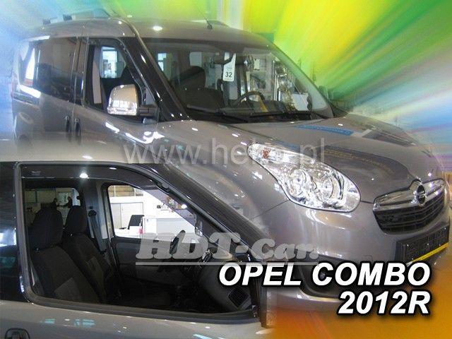 Plexi, ofuky Fiat Doblo 4D 2010 => přední HDT