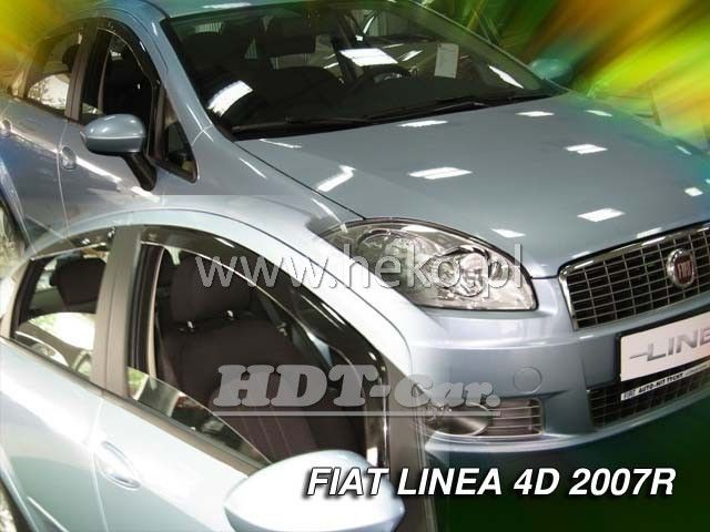 Plexi, ofuky Fiat Linea 4D 2007 =>, přední HDT