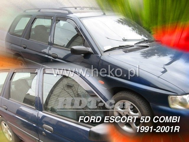 Plexi, ofuky Ford Escort 5D 1990-2001 comb přední + zadní heko