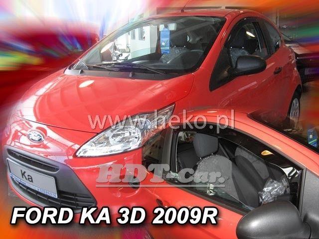 Plexi, ofuky Ford Ka 3D 2009 =>, přední heko