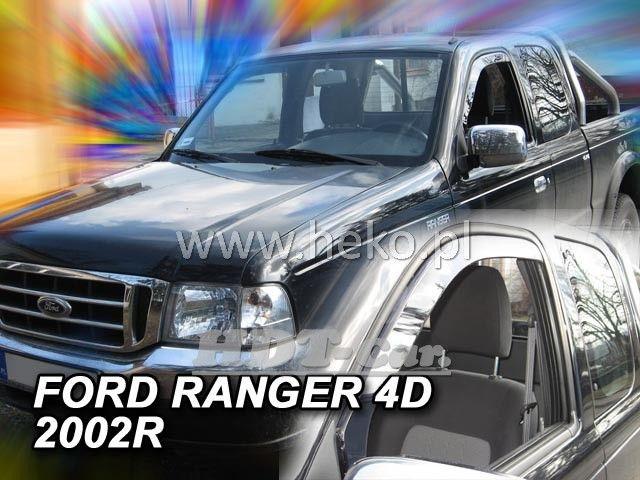 Plexi, ofuky Ford Ranger 4D 02-07 přední HDT