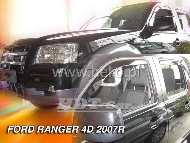 Plexi, ofuky Ford Ranger 4D 2007 =>, přední + zadní heko