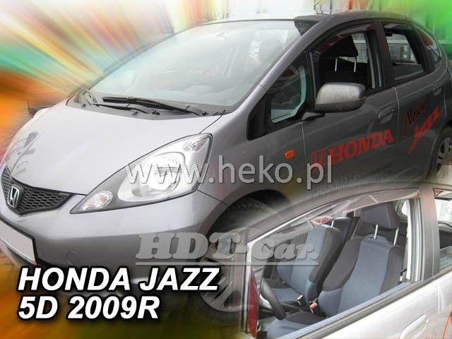 Plexi, ofuky Honda Jazz 5D 2009 =>, přední + zadní heko