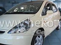 Plexi, ofuky Honda Jazz 5dv., 2001 =>, komplet přední + zadní HDT