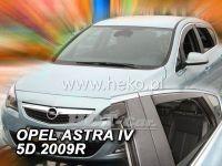 Plexi, ofuky OPEL Astra IV sedan, 5D, 2009 =>, přední + zadní