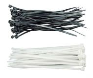 Upínací pásek na kabely 140 x 4 mm 100 ks bílý, černý