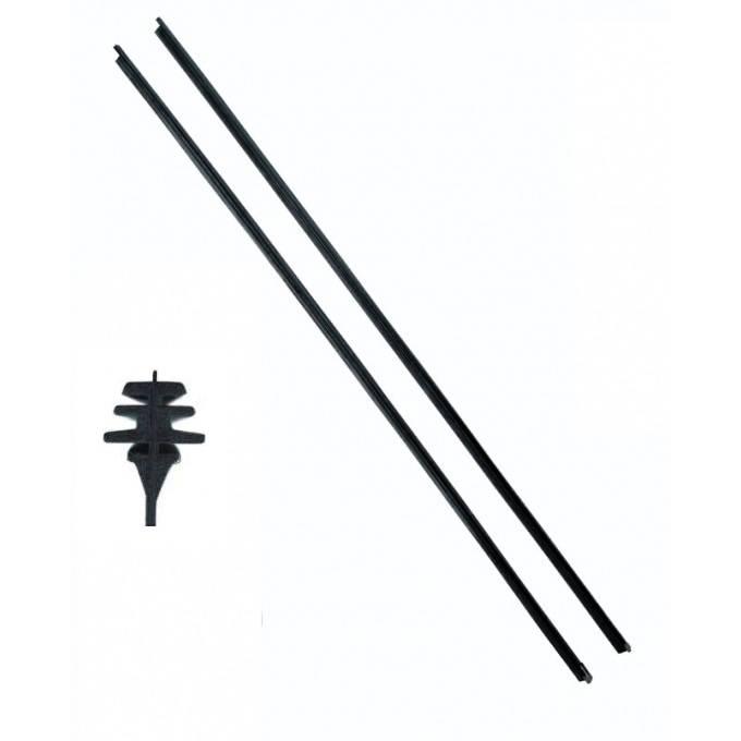 Náhradní grafitové gumičky do stěrače 2ks 70cm Plus