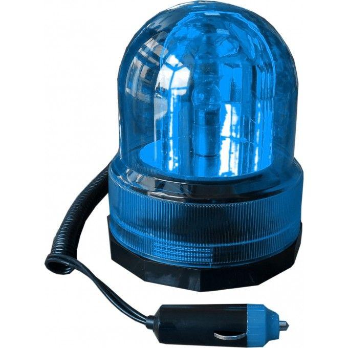 Univerzální výstražný magnetický maják modrá, 12V, 125x150mm Plus