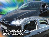 Plexi, ofuky Citroen C5 5D 2008 =>, sedan, přední + zadní HDT