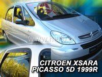 Plexi, ofuky Citroen Xsara Picasso 5D 1999 =>, sedan + zadní HDT