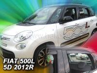Protiprůvanové plexi, Fiat 500L 2012r =>, 4ks predné+zadné