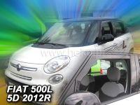 Protiprůvanové plexi, Fiat 500L 5D 2012r =>, 2ks predné