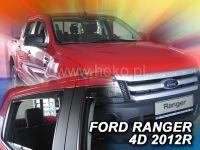 Protiprůvanové plexi, Ford Ranger 4D 2012r => 4ks predné+zadné