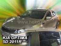 Protiprůvanové plexi, Kia Optima 5D 2011r => , 4ks predné+zadné