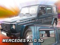 Protiprůvanové plexi, Mercedes G 5D přední+zadní