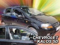 Protiprůvanové plexi, Chevrolet Kalos 5D 04-2008r, 2ks predné