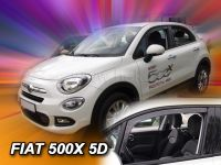 Protiprůvanové plexi, Fiat 500X 5D 2015r =>, 2ks predné