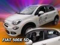 Protiprůvanové plexi, Fiat 500X 5D 2015r =>, 4ks predné+zadné