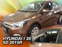 Protiprůvanové plexi, Hyundai i20 II 5D 2015r =>, 2ks predné