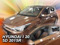 Protiprůvanové plexi, Hyundai i20 II 5D 2015r =>, 4 ks predné+zadné