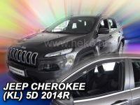 Protiprůvanové plexi, Jeep Cherokee 5D 2014r =>, 2ks predné