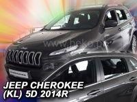 Protiprůvanové plexi, Jeep Cherokee 5D 2014r =>, 4 ks predné+zadné