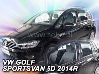 Protiprůvanové plexi, VW Golf Sportsvan 2005-2014r , 4ks predné+zadné