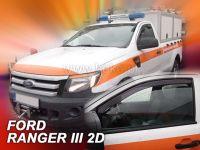 Protiprůvanové plexi, Ford Ranger III 2D 2012r =>, 2ks predné