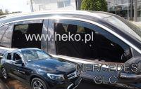 Protiprůvanové plexi, Mercedes GLC X253 5D 2016R=>, 4ks predné+zadné
