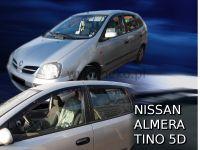 Protiprůvanové plexi, Nissan Almera Tino 5D 2001r =>, 4ks predné+zadné