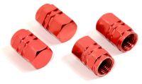 Čiapočky na ventil červené sada 4ks