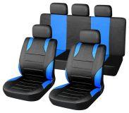 Autopotahy modré SPORT Univerzální na auto s atestem na airbag, zipem dělená lavice Vyrobeno v EU