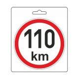 Samolepka omezená rychlost 110km/h (150 mm) TIR