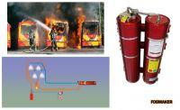 Systém hasenie požiaru pomocou vodnej hmloviny Fogmaker